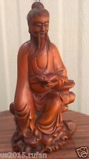 China  Antique Carved boxwood of Hand the mythical wild animal old monk
