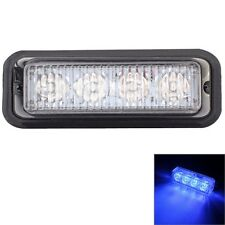 12W 720LM 440-480nm 4-LED Blue Light Wired Car Flashing Warning Signal Lamp, DC1