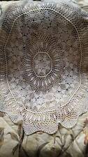 Gorgeous Small Cream Hand Crochet Tablecloth