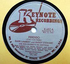 DAVE LAMBERT & BUDDY STEWART 78 Perdido KEYNOTE 1946 Jazz Be Bop   w160