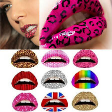 3X Temporary Lip Tattoo Sticker Art Transfers Lady Party Fancy Dress Up
