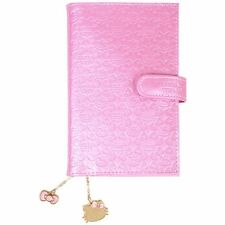 2017 Hello Kitty Schedule Book Weekly Planner Pocket S-Size Pink Embossing Japan