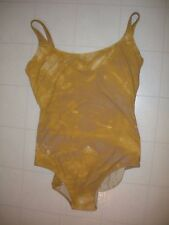GOTTEX Brown Mustard 1 Piece Square Neck Tank Style Swimsuit Sz 16 NWT
