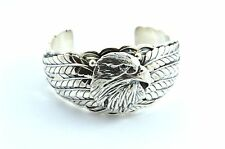 Native American Navajo Indian Jewelry Sterling Silver Eagle Bracelet