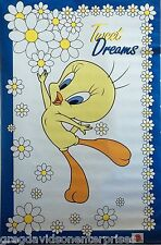 Looney Tunes 23x35 Tweet Dreams Cartoon Poster 1998 Tweety Bird