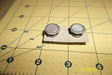Vintage Silver Tone Mother of Pearl  Deco Kum A Part Snap Cufflinks