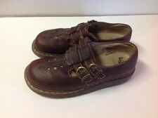 DR MARTENS WOMENS MARY JANE BROWN LEATHER SHOES SZ 8