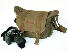 Courser Canvas Shoulder Bag Funda Para Canon Nikon Sony Dslr-Brown