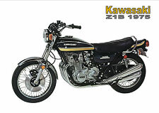 KAWASAKI Poster Z1 KZ900 Z1B 1975 Suitable to Frame