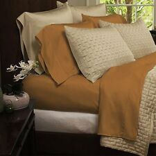 Bamboo Comfort 4-Piece Sheet Set 1800 Series Bedding - Full Gold Sheets