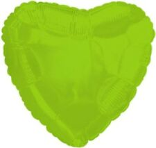 "18"" Solid Lime Green Heart Shape Balloon Wedding Baby Shower Birthday Over Hill"