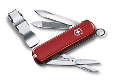 Victorinox Schweizer Taschenmesser Nailclip 580 rot mit Gravur