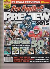PRO FOOTBALL WEEKLY MAGAZINE PREVIEW 2015, THE SUPER 50.