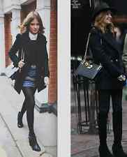 Dune black 'mock croc' bag with gold hardware as worn by Millie Mackintosh