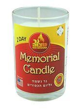 2days Kosher NER neshama-per yahrzeit e YOM KIPPUR, Memorial candela in vetro