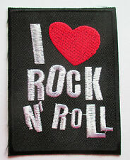I love Rock'n'Roll Aufnäher patch Rockabilly Emo Punk Aufbügler Metal Rock heart