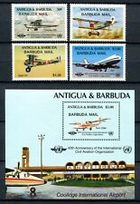 BARBUDA 1985 Flugzeuge ICAO Airplanes 828-831 + Block 97 **