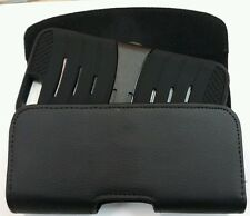 GOOGLE NEXUS 6 XL BELT CLIP LEATHER HOLSTER POUCH FITS WITH A HYBRID CASE On