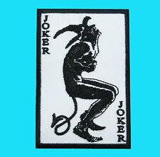 JOKER POKER CARD Casino Comic Biker Lucky Applique Embroidered Iron On Patch New