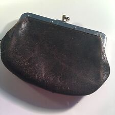 Vintage Cordovan Antique Leather Coin Change Purse
