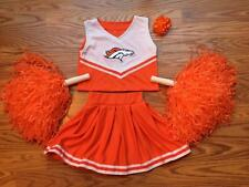 DENVER BRONCOS CHEERLEADER OUTFIT COSTUME DRESS ORANGE 12 MTS - 2T CHEER SET