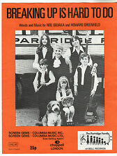 Partridge Family - Breaking Up Is Hard To Do Music Sheet / Neil Sedaka