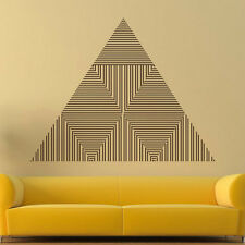 Triangle Vinyl Sticker Abstract Line Wall Decal Geometric Shape Home Decor AR237