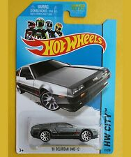 '81 DELOREAN DMC-12 Hot Wheels HW City 33/250 METALLIC Gray - NEW SEALED Pack!