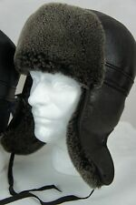100% Sheepskin Shearling Leather Trapper Biker Bomber Aviator Ushanka NWT M-3XL