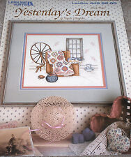 "1986 Paula Vaughan ""Yesterday's Dream"" Quilt / Spinning Wheel X-Stitch Pattern"