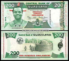 SWAZILAND 200 EMALANGENI 2008 UNCIRCULATED P.35 * COMMEMORATIVE * REPLACEMENT *