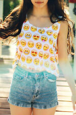 Boldgal Cami Yellow T-shirt Blouse Tank Sexy Short Bralette Crop Top