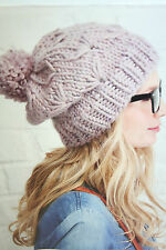 Ladies Hat and Cowl Scarf Knitting Pattern