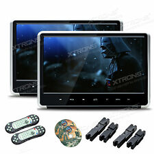 "2X 1080P HDMI 11.6"" TFT Panel Car Headrest DVD Player Active Monitor Kids Game"