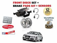 FOR AUDI A4 3.2 TFSi QUATTRO V6 2008-  FRONT BRAKE DISCS SET + PADS KIT + SENSOR