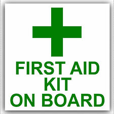 KIT pronto soccorso in board-vehicle, automobile, autobus, CABINA, TAXI / Minicab sticker-box segnale di sicurezza