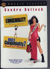 MISS CONGENIALITY + MISS CONGENIALITY 2 new 2 dvd SANDRA BULLOCK REGINA KING