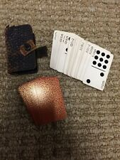Rare Vintage Domino Playing Cards Pocket Size With Leather Case