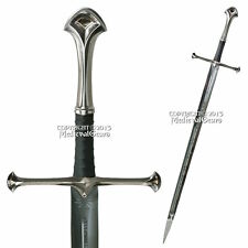 Two Handed Medieval Knight Long Strider Sword With Display Plaque