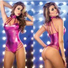 @@Sexy Leather Wetlook Jumpsuit Romper Cat Woman suit Bodysuit Clubwear Sale HOT