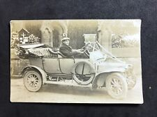 Vintage Postcard - RP Anonymous Men - #166 Man  In Vintage Car - Wedding Car?