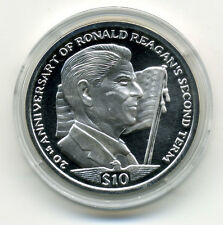 SIERRA LEONE 2004 20th ANNIVERSARY OF RONALD REAGAN'S 2nd TERM SILVER $10 PROOF