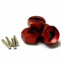 L9810 1/10 Scale Aluminium Alloy Pin Drive Wheel Hex Hub 12mm Red x 4 6mm Wide