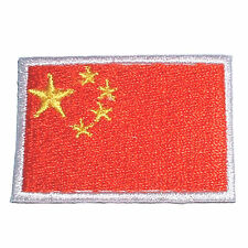 China Länder Flagge Fahne Country Flag Aufnäher Iron On Patch Aufbügler patch025