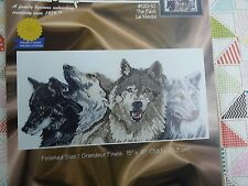 Janlynn #120-10 The Pack wolves animals Cross stitch kit