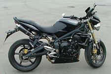 Triumph Street Triple 07-12 SP Engineering Carbon Fibre Stubby Moto GP Exhausts