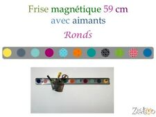 Frise adhésive magnétique + aimants Ronds déco murale, magnetic frieze + magnets