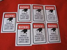 for sale 7 VIDEO SURVEILLANCE Security Decal  Warning Sticker (warning )