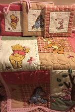 RARE Disney Winnie the Pooh & Friends Quilted Appliqued Crib Comforter EUC!!!!