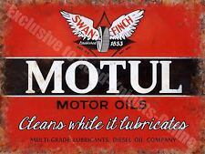 Motul Motor Oil Company 144 Vintage Garage Diesel Old Fuel, Small Metal/Tin Sign